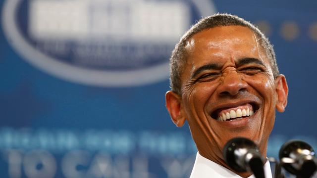 Barack Obama smiling